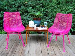 How To Spray Paint Patio Furniture How To Paint Metal Chairs How Tos Diy
