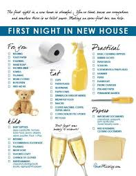moving part 5 family u0027s first night in new house checklist box
