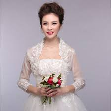wedding dress lace jacket ebay