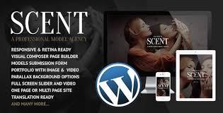 wp themes video background scent model agency wordpress theme by coffeecream themeforest