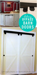 Make Closet Doors Remodelaholic How To Make Bypass Closet Doors Into Sliding Faux