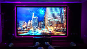 hd projector screen with led strip back light youtube
