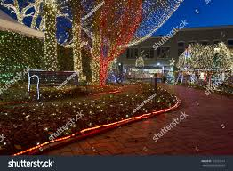 lights ozarks downtown fayetteville arkansas stock photo 123143614