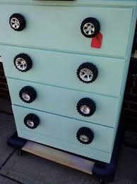 themed knobs dresser with car wheels for drawer pulls kid room