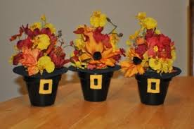 kid made thanksgiving centerpieces bootsforcheaper