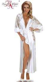 dressing gown kimono style satin lace dressing gown beauty bouquet