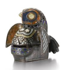 Owl Desk Accessories by Barn Owl A Covered Desk Accessories Sotheby U0027s