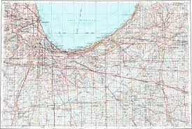 Map Of Chicago Area by Download Topographic Map In Area Of Chicago Gary South Bend