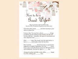 how to be a good wife game good wife guide 1950s game bridal