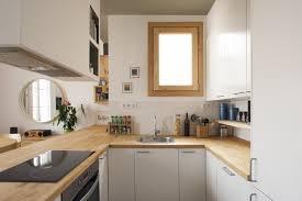 cuisines blanches et bois stunning deco cuisine blanc envoûtant cuisine blanche en bois