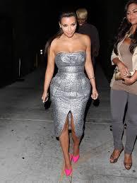 are we loving it kim kardashian in silver u0026 pink cotten kandi