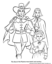 Pilgrim Thanksgiving History Bible Printables The First Thanksgiving Coloring Pages Pilgrim