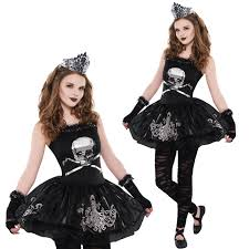 girls zombie black swan ballerina zomberina gothic halloween fancy