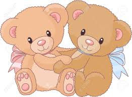 two cute teddy bears hugging royalty free cliparts vectors and