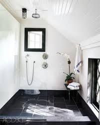 classic black and white bathroom black white glossy finished wall