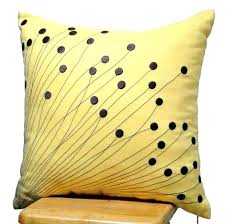 Fashionable Yellow Decorative Pillow Sale Yellow Pillow Covers
