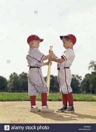1960 1960s boys children baseball sports retro stock photo