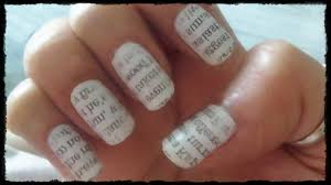newspaper nail art video choice image nail art designs