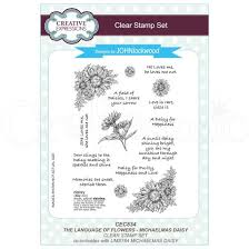 The Language Of Flowers Creative Expressions Clear Stamp Set By John Lockwood The