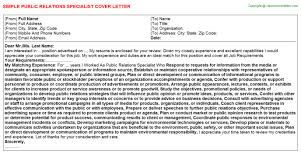 international relations specialist cover letters
