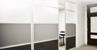 Glass Room Divider Fancy Sliding Wall Room Divider With Steel Frame Mixed White