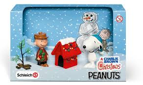 amazon schleich charlie brown christmas scenery pack toys