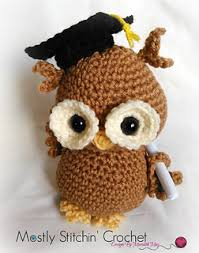 graduation owl ravelry newton the graduation owl pattern by mostly stitchin