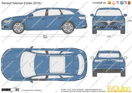 renault talisman estate the blueprints com vector drawing renault talisman estate