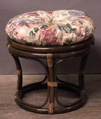 aruba round rattan ottoman all about wicker