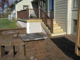 exterior design and decks flooring deck replacement with azek pavers plus cream stairs and