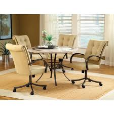 Chromcraft Furniture Kitchen Chair With Wheels Chromcraft Furniture Kitchen Chair With Wheels Dining Room Chairs