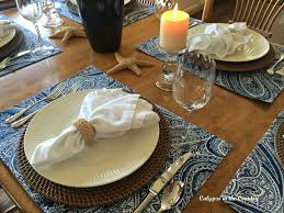 summer inspired kitchen table setting calypso in the country