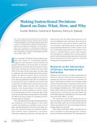 making instructional decisions based on data what how and why