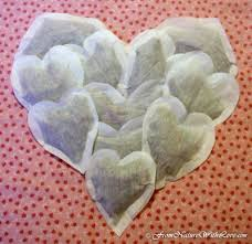 heart shaped tea bags s day bath tub tea the beauty workshop