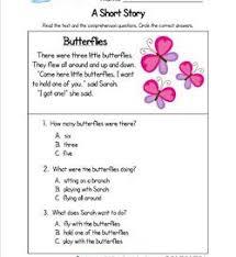 stories for comprehension reading comprehension worksheets a wellspring