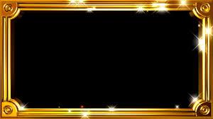 frame gold lights motion background free hd