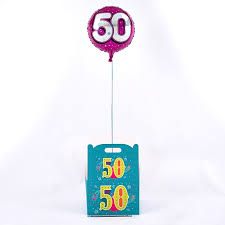 50th birthday balloons delivered 50th birthday balloon in a box inflated and free delivery card