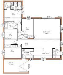 plan de maison plain pied 3 chambres avec garage plan maison plain pied 3 chambres 1 bureau best modle de maison
