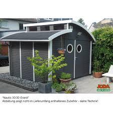 design gartenhaus elementhaus nautic joda vier größen farbvorbehandelt oder roh