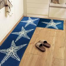 Plush Floor Rugs Blue Starfish Kitchen Runner Mat Plush Floor Rug Doormat