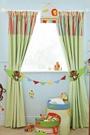 Jungle Curtains For Nursery Buy Jungle Brights Pencil Pleat Blackout Lined Curtains From The