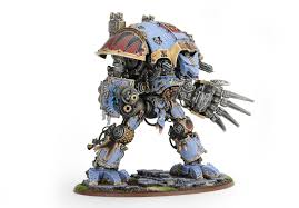 showcase space wolves themed imperial knight by comradequiche