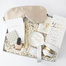 bridal gift chagne gold bridal gift box foxblossom co