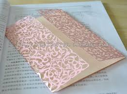 Pink Wedding Invitations Laser Cut Wedding Cards Orange Wedding Invitations With Lace Pink