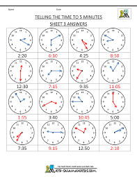telling time assessment worksheet telling time clock worksheets to 5 minutes