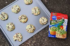 mint chocolate chip funfetti cookies little bitty bakes