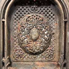 magnificent antique cast iron arched fireplace cover u0026 surround