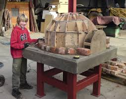 how to build make a homemade wood fired clay brick pizza oven