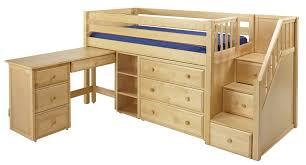 maxtrixonline com low loft bed with stairs steps