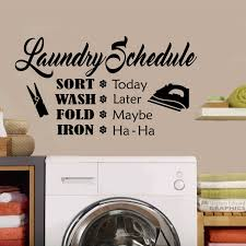 funny laundry room schedule quote vinyl wall lettering vinyl zoom